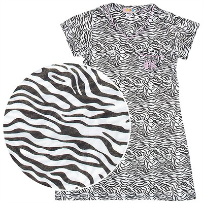 Zebra Print Nightshirt for Women