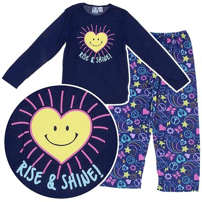 Katnap Rise and Shine Navy Pajamas for Womens