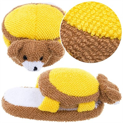 Brown Dog Slip On Slippers for Toddlers