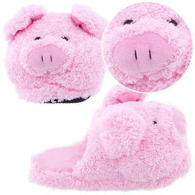 Pink Pig Slippers for Toddler Girls