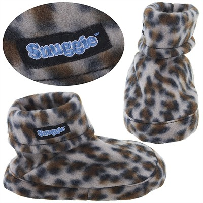 Snuggie Leopard Print Slippers for Kids