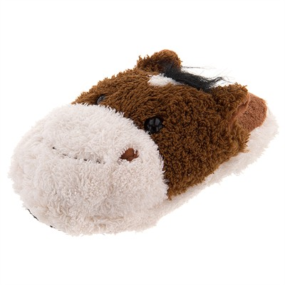 Fuzzy Horse Slippers for Toddlers