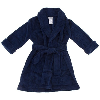 Navy Solid Bathrobe for Boys