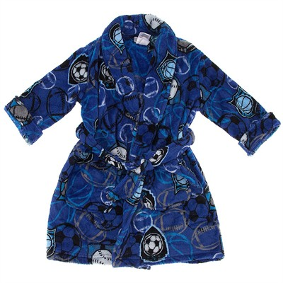 Blue Sports Bathrobe for Boys