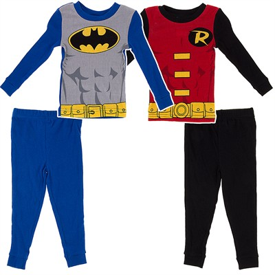 Batman and Robin Set of Two Pajamas for Toddler Boys