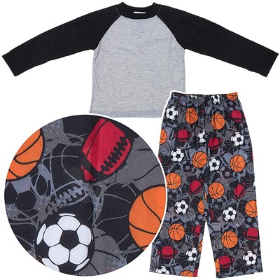 Gray Sports Pajamas for Boys