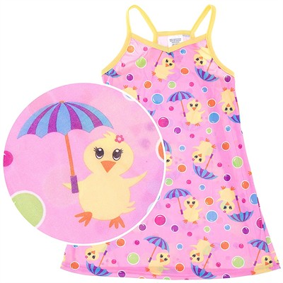 Pink Duck Racerback Nightgown for Girls