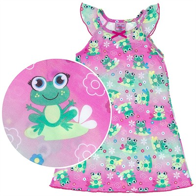 Pink Frog Nightgown for Girls