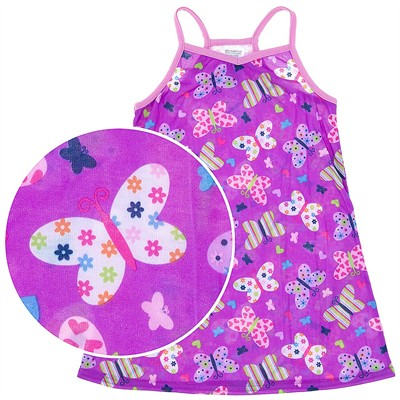 Purple Butterfly Racerback Nightgown for Girls