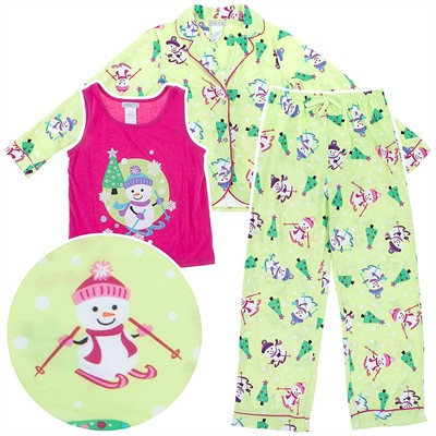 Snowman Coat-Style Pajamas for Girls