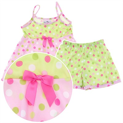 Laura Dare Little Dot Strappy Pajamas for Toddlers and Girls