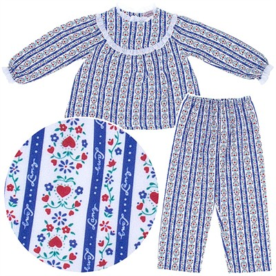 Lanz of Salzburg Blue Tyrolean Pajamas for Girls