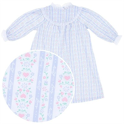 Lanz of Salzburg Light Blue Tyrolean Nightgown for Toddler Girls