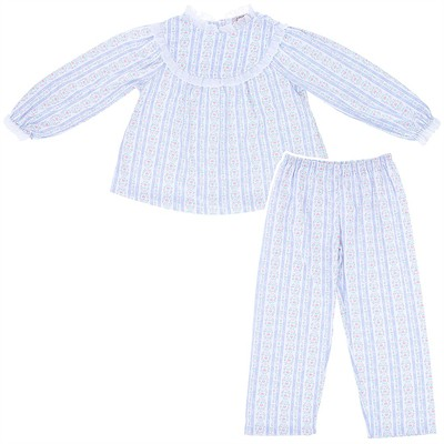 Lanz of Salzburg Light Blue Tyrolean Pajamas for Girls