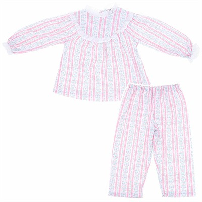 Lanz of Salzburg Pink Tyrolean Pajamas for toddlers and Girls