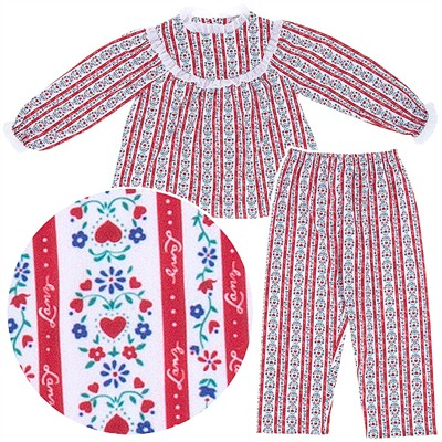 Lanz of Salzburg Red Tyrolean Pajamas for Girls