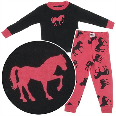 Lazy One Horse Print Pajamas for Toddler and Girls