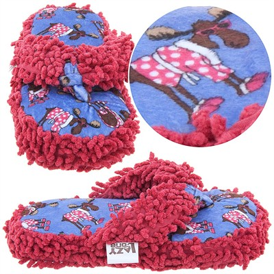 Lazy One Don't Do Morning Moose Thong Slippers for Womens