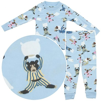 Lazy One Pillow Fight Cotton Pajamas for Toddler Boys
