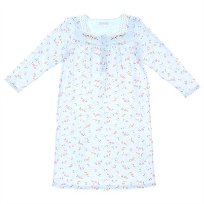 Blue Floral Nightgown for Women