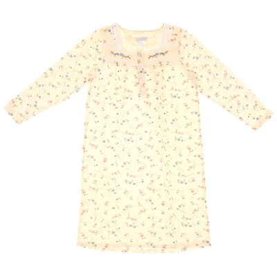 Yellow Floral Nightgown for Women