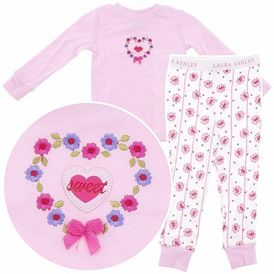 Laura Ashley Pink Sweet Cotton Pajamas for Girls