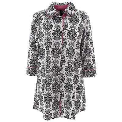 Laura Ashley White Damask Nightshirt for Women