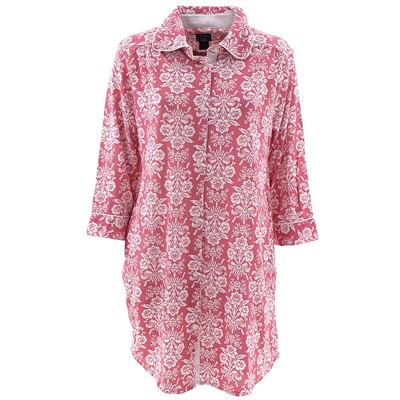 Laura Ashley Coral Damask Nightshirt for Women