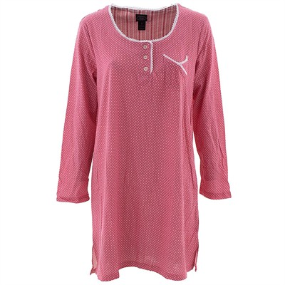 Laura Ashley Coral Dot Nightshirt for Women