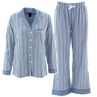 Laura Ashley Blue Striped Pajamas for Women