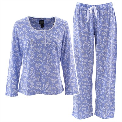 Laura Ashley Periwinkle Floral Pajamas for Women