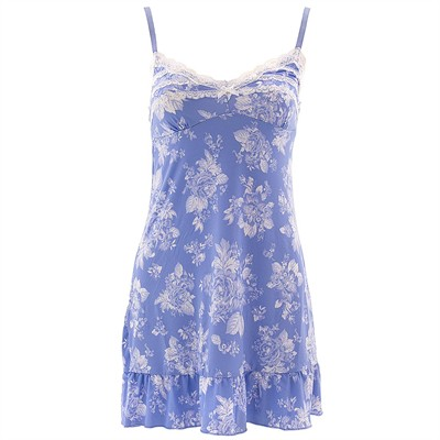 Laura Ashley Periwinkle Floral Chemise for Women