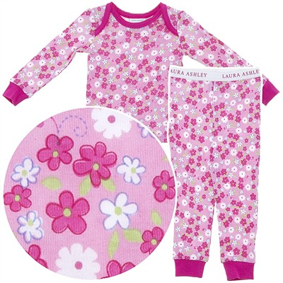 Laura Ashley Pink Floral Pajamas for Girls