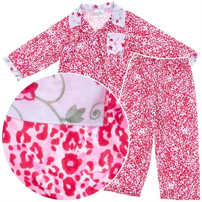 Laura Dare Red Animal Print Coat-Style Pajamas for Girls