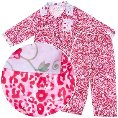 Laura Dare Red Animal Print Coat-Style Pajamas for Girls