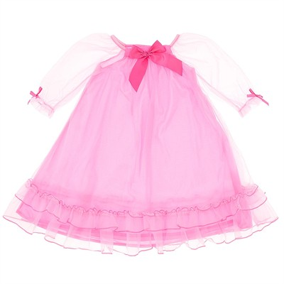 Laura Dare Bright Pink Nightgown for Toddlers and Girls