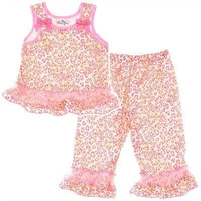 Laura Dare Coral Leopard Toddler Pajamas