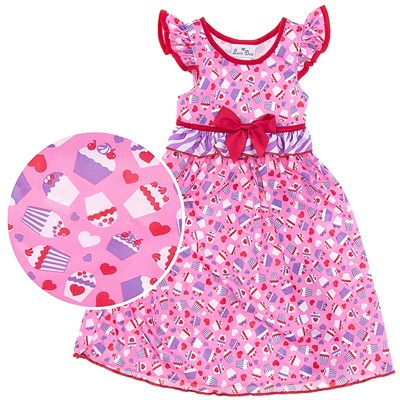 Laura Dare Cupcake Flutter Nightgown for Toddler Girls