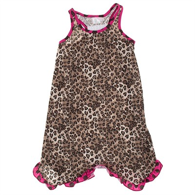 Laura Dare Leopard Print Racerback Nightgown for Girls