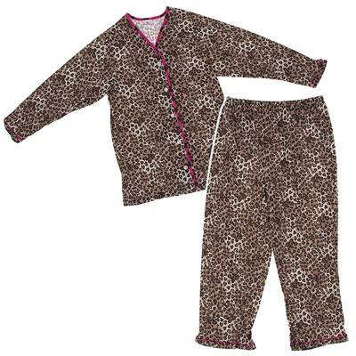Laura Dare Leopard Print Matching Pajamas for Moms