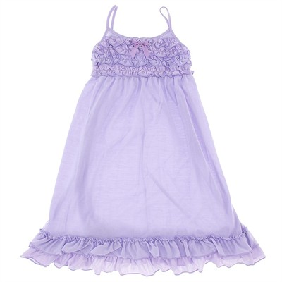 Laura Dare Lilac Strappy Jersey Nightgown for Girls