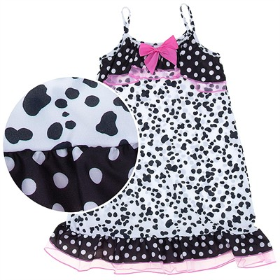 Laura Dare Dalmatian Print Strappy Nightgown for Girls