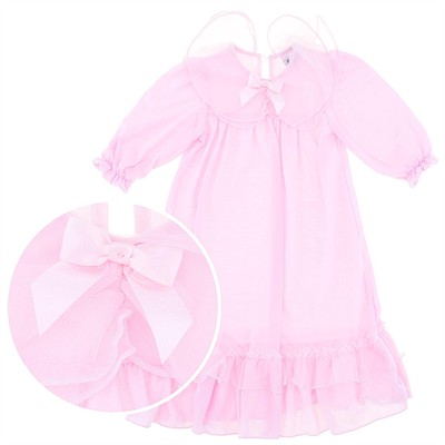 Laura Dare Pink Bow Nightgown for Toddlers and Girls