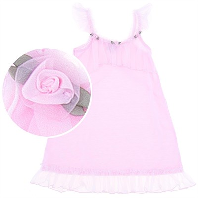 Laura Dare Pink Flower Nightgown for Toddler Girls