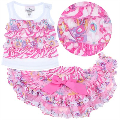 Laura Dare Pink Tank and Petticoat Sleepwear Set for Babies, Toddlers and Girls