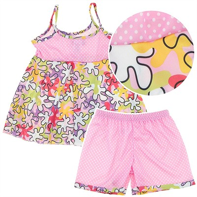Laura Dare Puzzled Shorty Pajamas for Toddlers and Girls