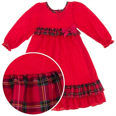 Laura Dare Red Nightgown for Toddlers and Girls