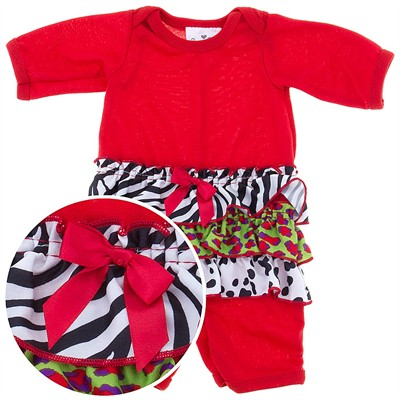 Laura Dare Snazzy Holiday Jumpsuit for Baby Girls