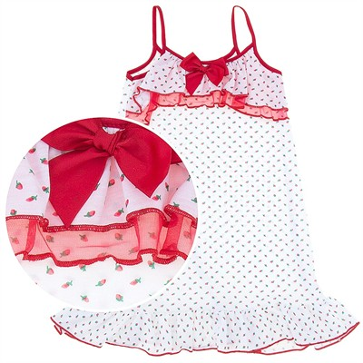 Laura Dare Red Rosebud Strappy Nightgown for for Girls