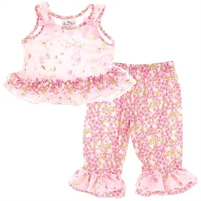 Laura Dare Secret Garden Toddler Pajamas for Girls